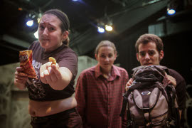 Lilli Pickens, Samantha Kammerman, and Bill Cahill in Bat Boy: The Musical
