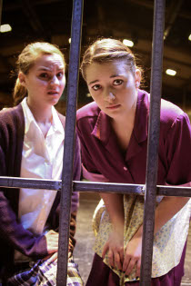 Hannah Buto and Kathryn Martin in Bat Boy: The Musical