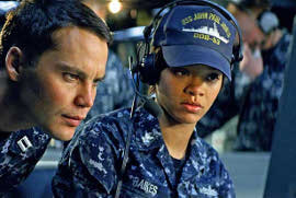 Taylor Kitsch and Rihanna in Batleship