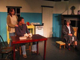 Melissa Anderson Clark, Erik Finch, and Susan Perrin-Sallak in The Beauty Queen of Leenane