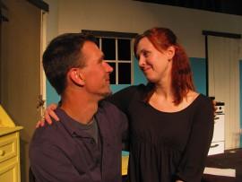 Erik Finch and Melissa Anderson Clark in The Beauty Queen of Leenane
