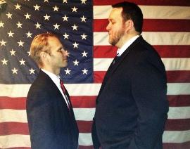 Jonathan Grafft and Matt Mercer in The Best Man