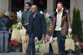 Harold Perrineau, Taye Diggs, and Terrence Howard in The Best Man Holiday