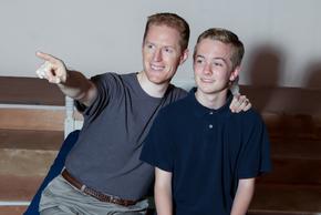 Adam Nardini and Joe Lasher in Big Fish, photo courtesy of Avenue Studios