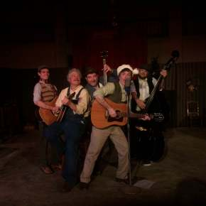 Anthony Natarelli, Mark Ruebling, Chris Tracy, Tom Vaccaro, and Kyle Jecklin in Big Rock Candy Christmas