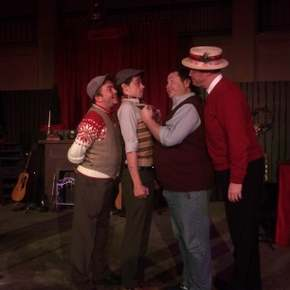 Aaron Lord, Anthony Natarelli, Chris Tracy, and Mike Kelly in Big Rock Candy Christmas