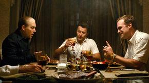 Johnny Depp, Joel Edgerton, and David Harbour in Black Mass
