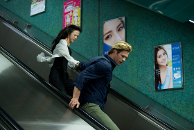 Wei Tang and Chris Hemsworth in Blackhat