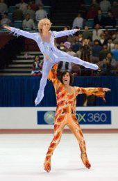 Jon Heder and Will Ferrell in Blades of Glory