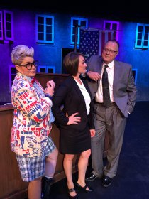 Nancy Teerlinck, Sara Tubbs, and Doug Kutzli in Legally Blonde: The Musical