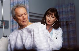 Clint Eastwood and Anjelica Huston in Blood Work