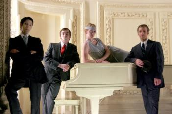 Ballet Quad Cities' Jason Gomez, Jake Lyon, Margaret Huling, and Colin Claypool