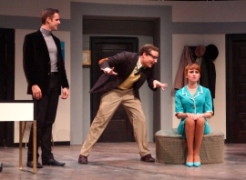 Brandon Jess Ford, Dryden Meints, and Hanah Nardone in Boeing-Boeing