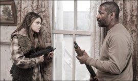 Mila Kunis and Denzel Washington in The Book of Eli