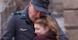 Geoffrey Rush and Sophie Nélisse in The Book Thief