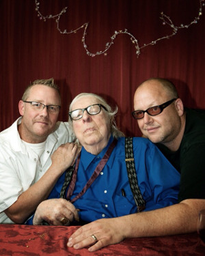 Sam Weller, Ray Bradbury, and Black Francis in June. Photo by Nathan Kirkman.