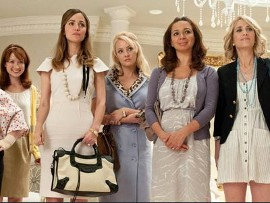 Ellie Kemper, Rose Byrne, Wendi McLendon-Covey, Maya Rudolph, and Kristen Wiig in Bridesmaids