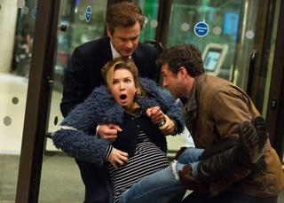 Renee Zellweger, Colin Firth, and Patrick Dempsey in Bridget Jones's Baby