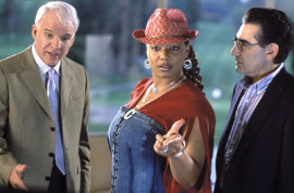 Steve Martin, Queen Latifah, and Eugene Levy in Bringing Down the House