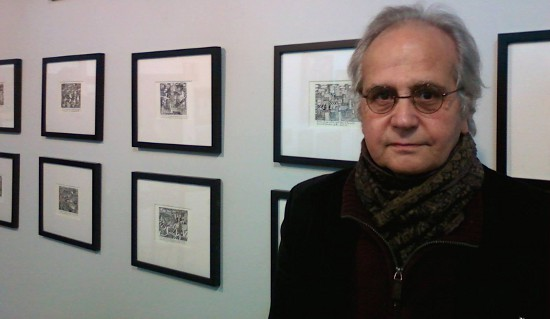 Bruce Carter at a 2014 exhibit of his work at Atom Gallery. Photo courtesy of the Carter family.