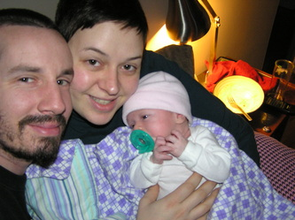 Curtis Butterfield, Sarah Mason-Butterfield, and their daughter Clara. Photo courtesy Sarah Mason-Butterfield.