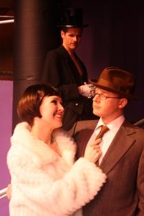 Melissa Anderson-Clark, Bryan Tank, and Tristan Tapscott in Cabaret