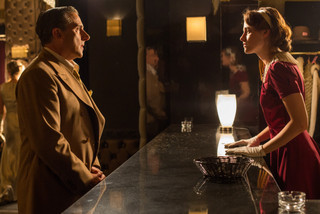 Steve Carell and Kristen Stewart in Cafe Society