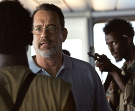 Tom Hanks and Mahat M. Ali in Captain Phillips