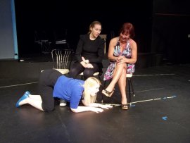 Cari Downing, Lauren Vickers, and Jackie Madunic in Anton in Show Business