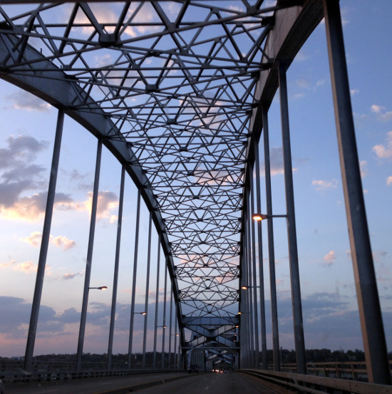 The Centennial Bridge. Photo by Bruce Walters.