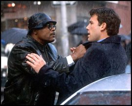 Samuel L. Jackson and Ben Affleck in Changing Lanes