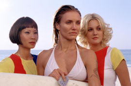 Lucy Liu, Cameron Diaz, and Drew Barrymore in Charlie's Angels: Full Throttle