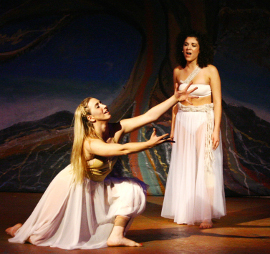 Kelsey Andres and Erica Vlahinos in Children of Eden
