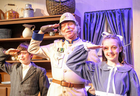 Gage McCalester, Harold Truitt, and Molly Ahern in Chitty Chitty Bang Bang