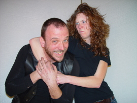 Chris Moore, with Beth Woolley in The Taming of the Shrew