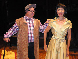 Mike Skiles and Susan Philhower in Christmas Belles