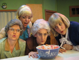 Nicole Savitt, Molly Laurel, Regina Webster, and Emily Bodkin in Church Basement Ladies