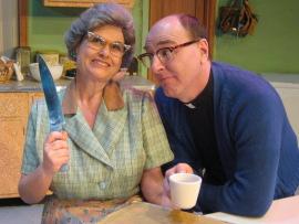 Nicole Savitt and Tom Walljasper in Church Basement Ladies