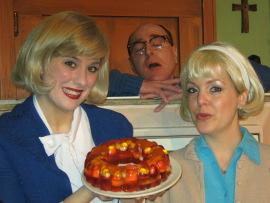 Emily Bodkin, Tom Walljasper, and Molly Laurel in Church Basement Ladies