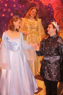 Melissa Flowers, Sheri Brown, and James Pepper in Cinderella