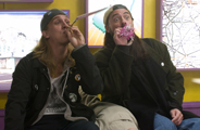 "Jason Mewes and Kevin Smith in ""Clerks II"""