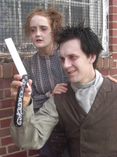 Dallas Milholland and Blake Adams in Sweeney Todd