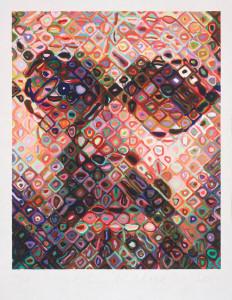 Chuck Close, 'Self-Portrait/Woodcut'