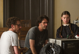 True Grit's Ethan and Joel Coen, with Hailee Steinfeld