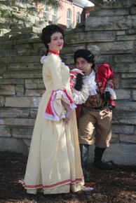 Kayla Lansing and Vince Solis in Commedia Dell'arte