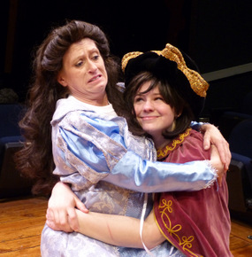 Angela Rathman and Rebecca McCorkle in The Complete Works of William Shakespeare Abridged