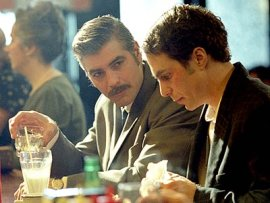 George Clooney and Sam Rockwell in Confessions of a Dangerous Mind