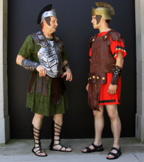 Bob Hanske and Tyler Henning in Coriolanus