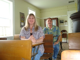 Tammy and Kelly Rundle in North English, Iowa's Gritter Creek School
