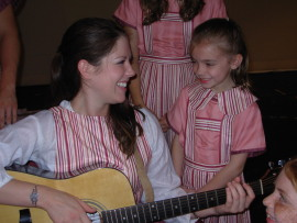 Liz Millea and Ali Girsch in The Sound of Music